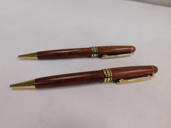 (2) WOOD TONE AUGUSTANA COLLEGE INK PENS