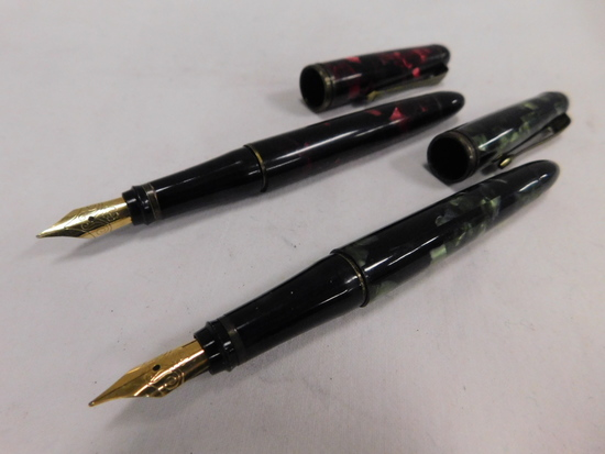 (2) UNBRANDED FOUNTAIN PENS