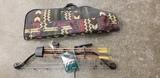 BROWNING MIRAGE XE COMPUND BOW W/ NEET BRAND SOFT CASE, (4) ARROWS & SIGHT