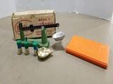 REDDING POWDER & BULLET SCALE MODEL 1 W/ BOX & LYMAN CASE LUBE PAD