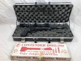 THOMPSON CENTER CONTENDER PISTOL W/ .22 HORNET CAL BARREL & SCOPE