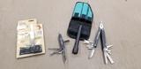 SPORTGEAR MULTI TOOL W/ BELT CASE & MULTI-FUNCTION ARMY KNIVES