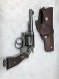 SMITH & WESSON D.A. 45LC US ARMY MODEL 1917 6 SHOT REVOLVER W/ LEATHER HOLSTER
