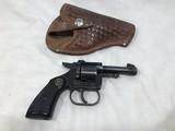 LIBERTY MODEL RG10 GERMAN .22 SHORT CAL 6 SHOT REVOLVER W/ LEATHER HOLSTER