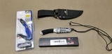 (2) KNIVES & A WINCHESTER CANVAS SHEATH