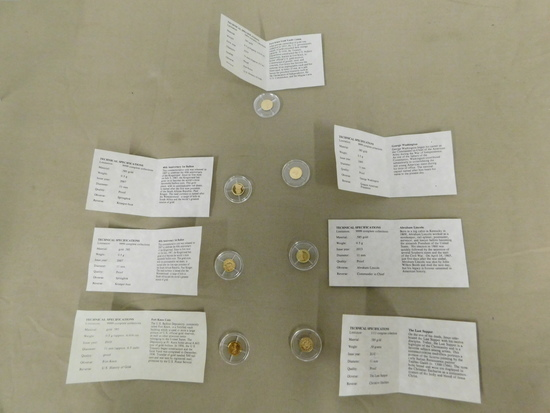 (7) MISC. MINI GOLD COINS