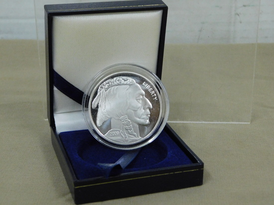 2009 1 OZ. .999 FINE SILVER BUFFALO COMMEMORATIVE COIN