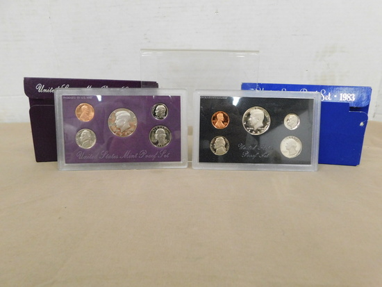 1983 U.S. PROOF SET & 1990 U.S. MINT PROOF SET