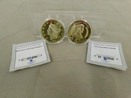 (2) AMERICAN MINT COMMEMORATIVE COINS