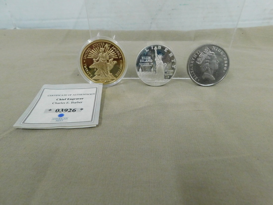 (3) COMMEMORATIVE COINS