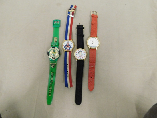 (4) ASSSORTED CHARACTER WRIST WATCHES