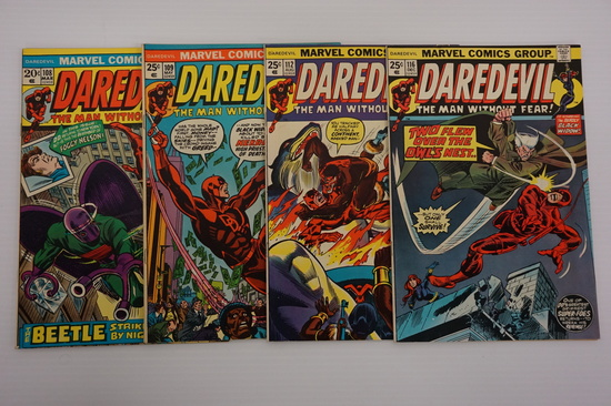 (4) DAREDEVIL COMIC BOOKS(1974)