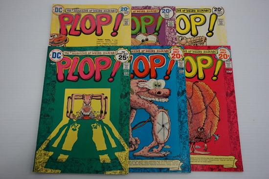 (6) PLOP DC COMIC BOOKS (1973-75)