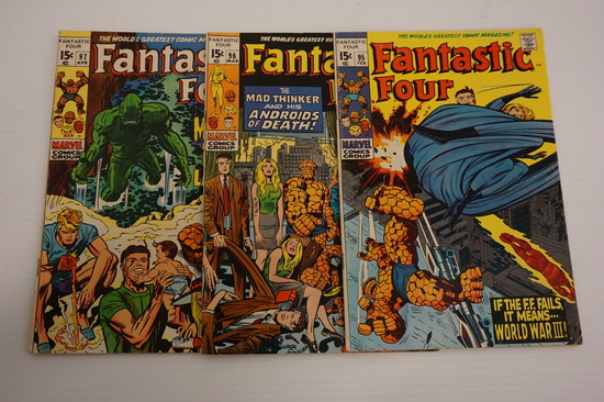 (3) FANTASTIC FOUR SILVER AGE COMIC BOOKS