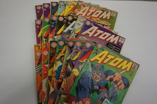 (22) ATOM SILVER AGE COMIC BOOKS