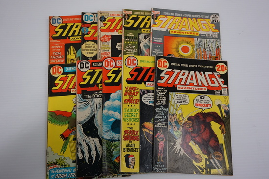 (10) STRANGE ADVENTURES COMIC BOOKS