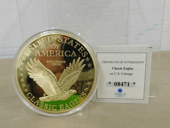 LIBERTY HEAD DOUBLE EAGLE  COMMEMORATIVE PROOF COIN