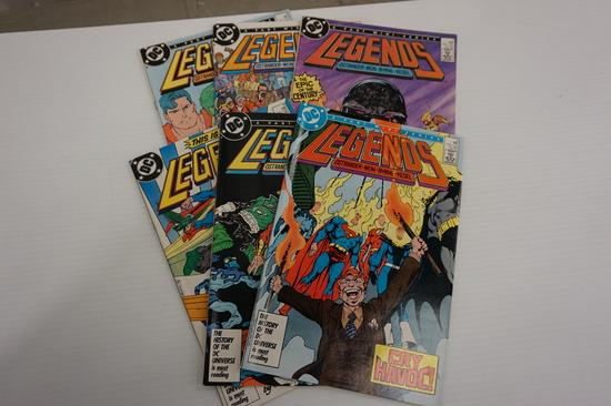 (6) DC COMIC BOOKS LEGENDS MINI SERIES