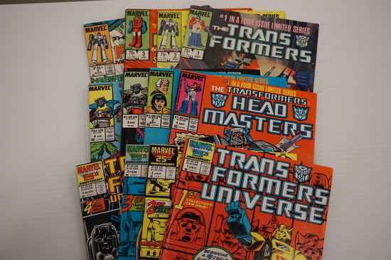 (12) TRANSFORMERS LIMITED SERIES COMIC BOOKS (1984-87)