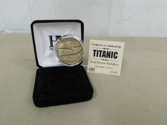 "THE HIGHLAND MINT BRONZE ""TITANIC"" MEDALLION"
