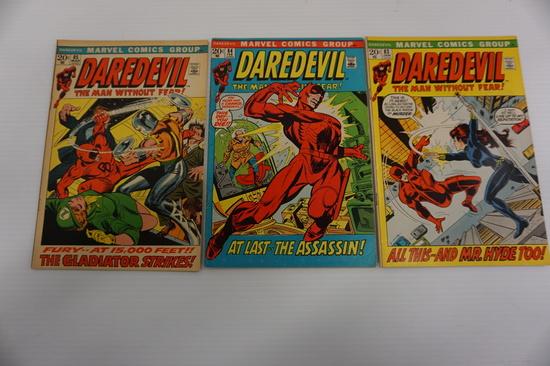 (3) DAREDEVIL COMIC BOOKS (1972)