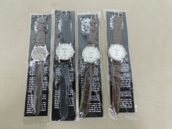 (4) EIGER WRIST WATCHES