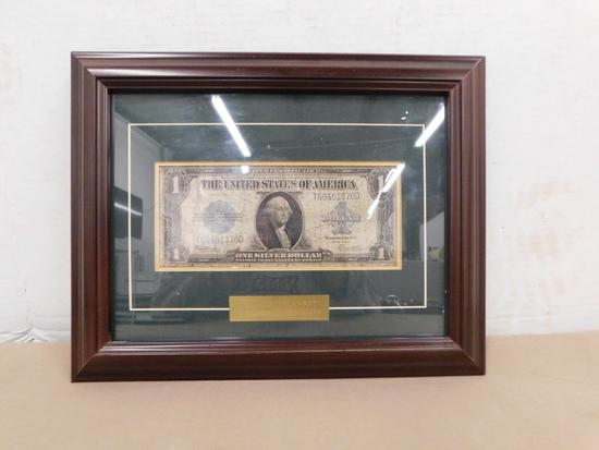 FRAMED 1923 HORSEBLANKET $1 SILVER CERTIFICATE