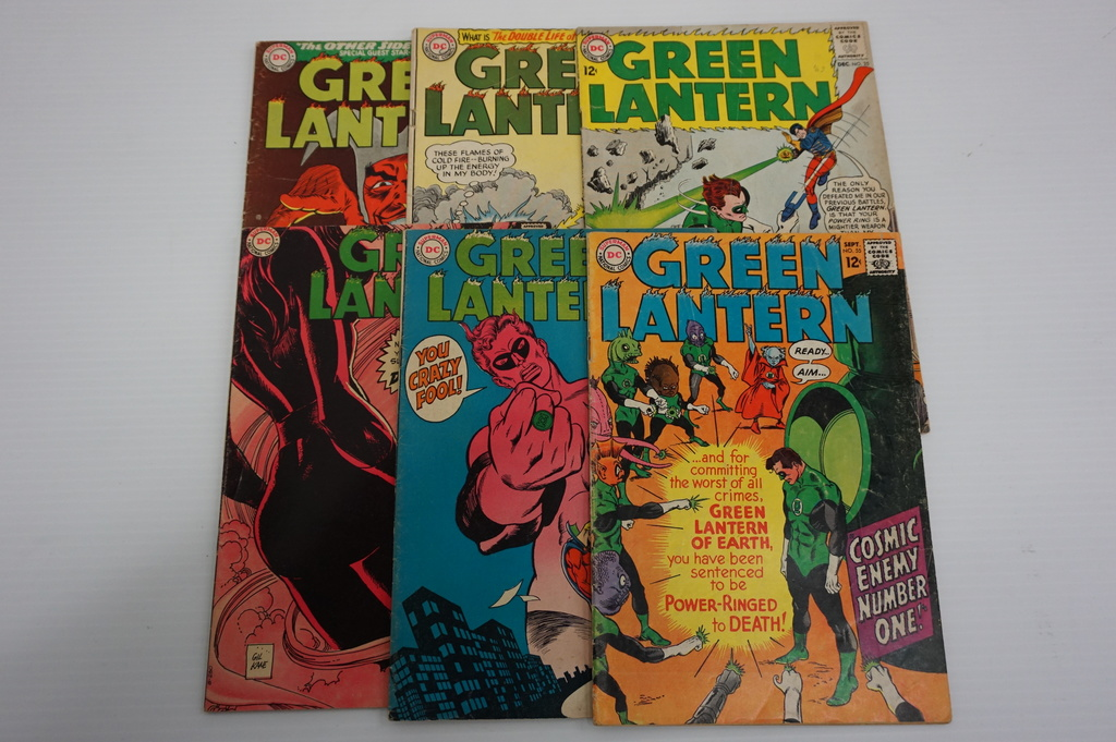 (6) GREEN LANTERN SILVER AGE COMIC BOOKS