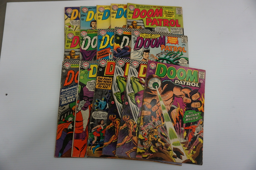 (16) DOOM PATROL SILVER AGE COMIC BOOKS