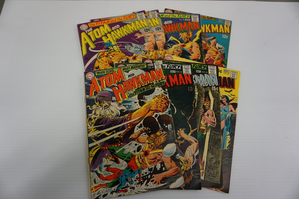 (8) ATOM AND HAWKMAN SILVER AGE COMIC BOOKS