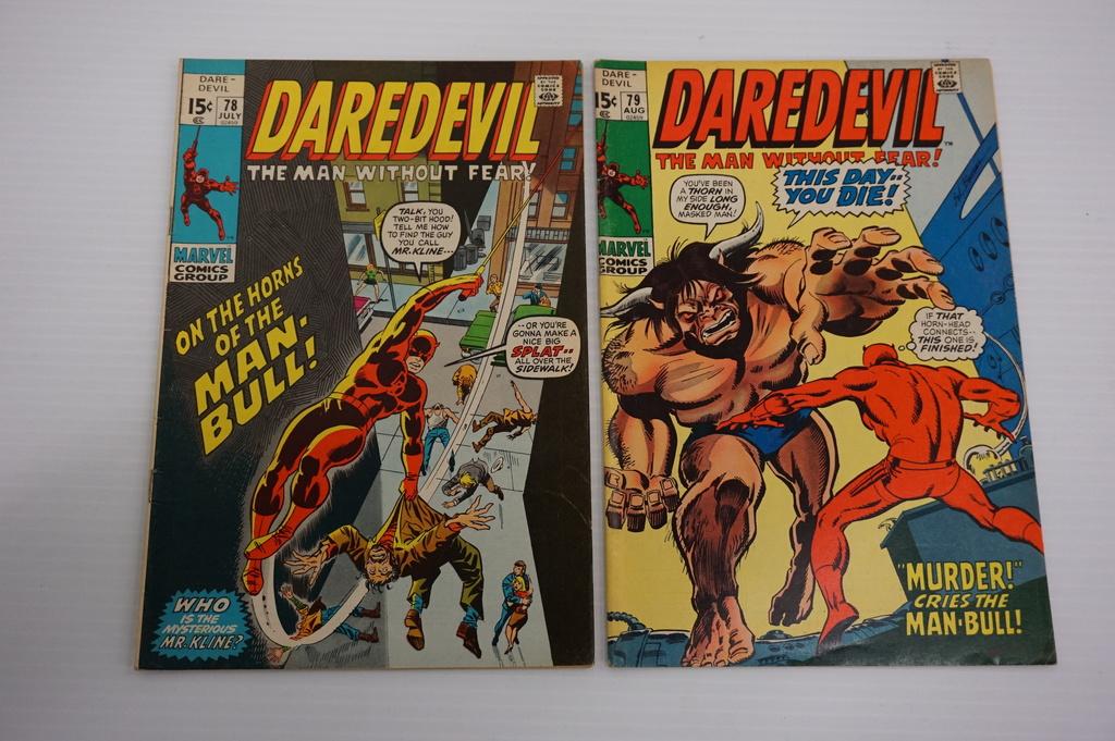 (2) DARE DEVIL COMIC BOOKS (1971)