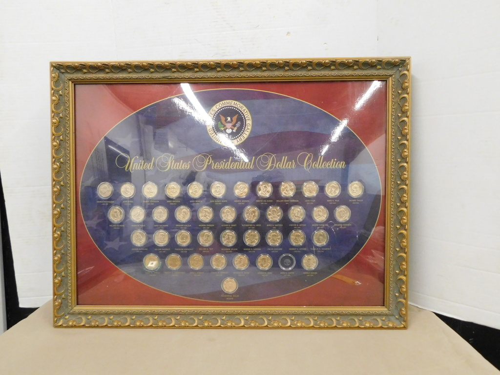 FRAMED UNITED STATES PRESIDENTIAL DOLLAR COLLECTION