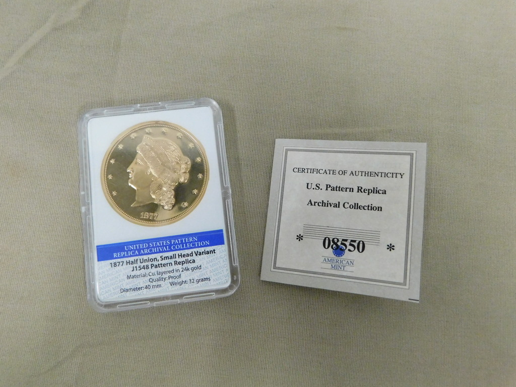 1877 $50 HALF UNION SMALL HEAD VARIANT REPLICA