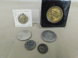(6) ASSORTED COIN / TOKENS