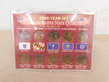 2000 YEAR SET COMMEMORATIVE STATE QUARTERS IN DISPLAY