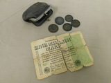 ANTIQUE COIN PURSE W/ FOREIGN AND ANTIQUE COINS