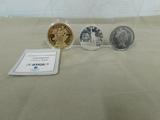 (3) COMMEMORATIVE COINS