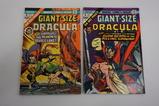 (2) GIANT SIZE DRACULA COMIC BOOKS(1974)