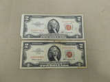 (2) RED SEAL $2 UNITED STATES NOTES