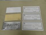 (2) 9-11 SILVER LEAF & (1) 9-11 GOLD LEAF COIN CERTIFICATES