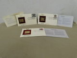 (2) FIRST ISSUE22 KT  GOLD STAMPS