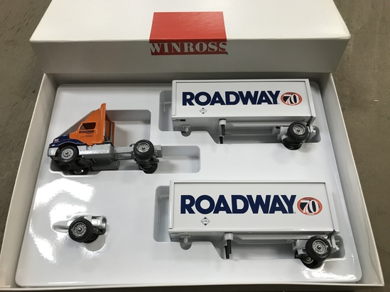 WINROSS 1/64 SCALE ROADWAY DOUBLE TRAILER & SEMI