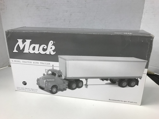 1ST GEAR 1/34 SCALE  B- MODEL MACK TRACTOR & TRAILER