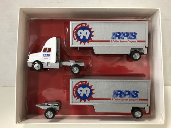 WINROSS 1/64 SCALE RPS DOUBLE TRAILER SEMI