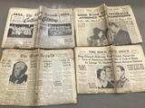 (4) VINTAGE NEWSPAPERS