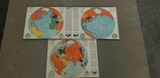 (3) 1942/43 FORTUNE MAPS - ORTHOGRAPHIC SERIES 1, 2 & 3