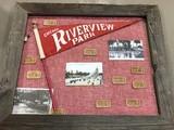 VINTAGE FRAMED CHICAGO RIVERVIEW PARK MEMORABILIA