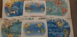 (6) 1940 PAGEANT OF THE PACIFIC LITHOGRAPHED MAPS by MIGUEL COVARRUBIAS