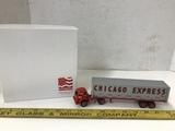 WINROSS 1/64 SCALE CHICAGO EXPRESS SEMI TRUCK & TRAILER