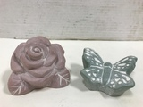 1998 ISABEL BLOOM ROSE  & 2001 BUTTERFLY